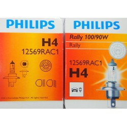H4 Bulb Philips Rally 100-90 Watt