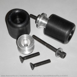 6mm Derlin Swingarm Slider with Aluminum Spools, combo set